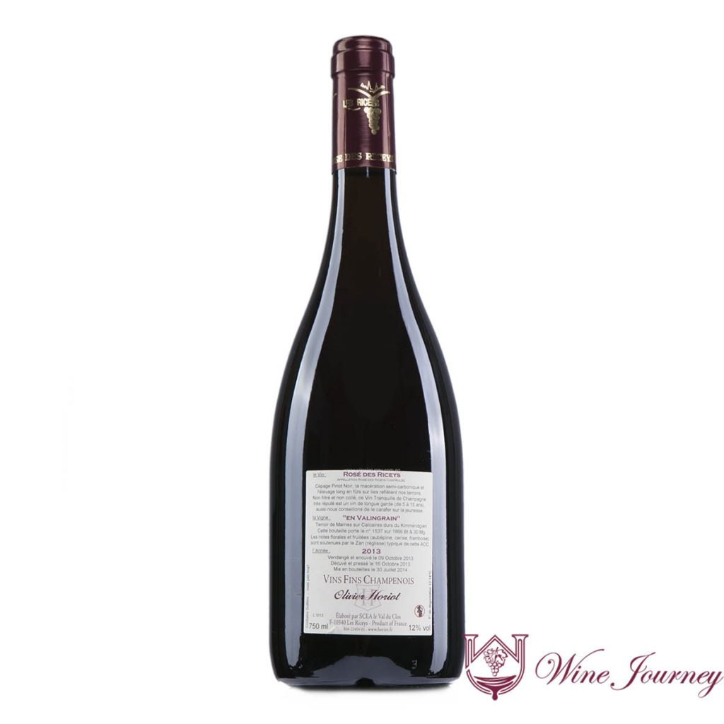 Horiot Rose de ricey 2013 back 1200